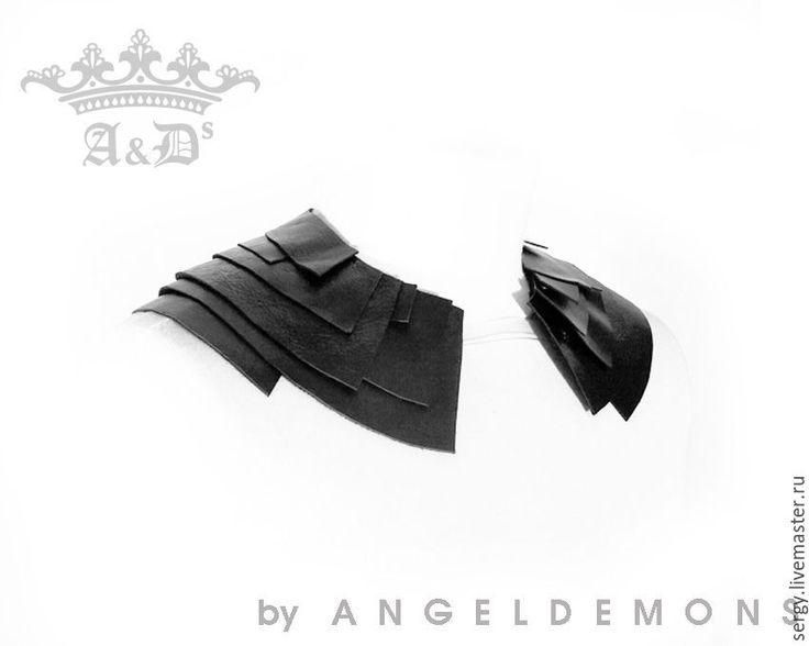 Купить Колье воротник Neck Black Wings - черный, колье, бусы, колье ручной работы