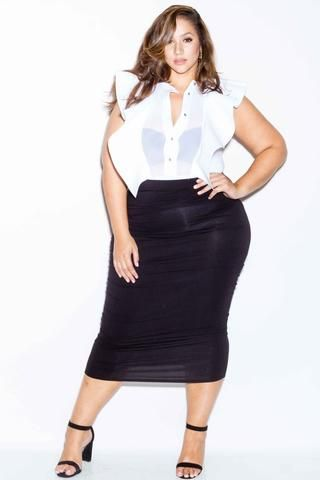 a05578ae1 Plus Size off Shoulder Keyhole Long Sleeved Maxi Dress – Plussizefix ...