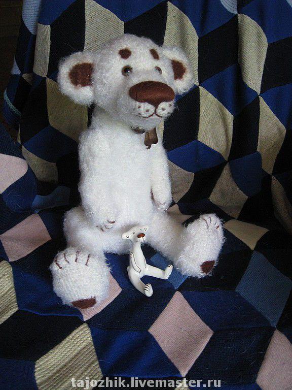 Купить Медведь Умц - мишки тедди, авторские мишки, Вязание крючком, авторская игрушка