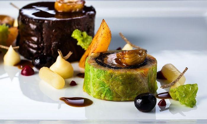 """La Rotonde - Restaurant - La Rotonde: Déjeuner """"Plaisir"""" avec entrée, poisson, viande et dessert pour 2 convives à 98 € au restaurant étoilé La Rotonde"""