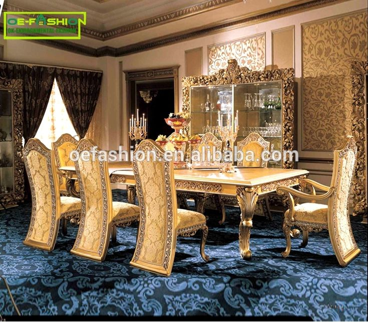 China Furniture Manufacturer Custom Luxurious Italian Style Solid Wood Dining Table View