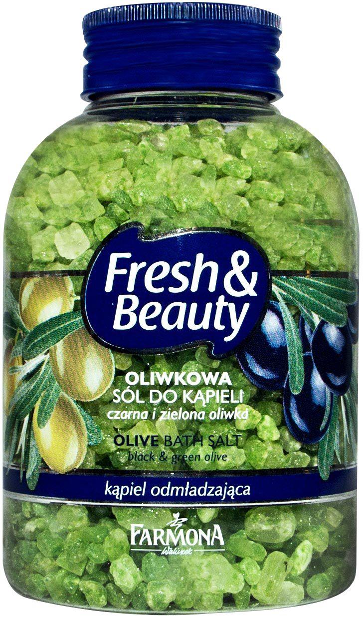 Aromatyczna sól do kąpieli o kojącym, przyjemnie świeżym zapachu oliwek doskonale myje i pielęgnuje skórę, opóźniając procesy jej starzenia. Kąpiel błyskawicznie odświeża i nawilża ciało oraz pozwala na osiągnięcie harmonii i wyciszenia, wprowadzając w doskonały nastrój. Dodatkowo delikatna piana zmysłowo pieści ciało oraz otula cudownie świeżym zapachem oliwek, pozostawiając skórę jedwabiście gładką, piękną i pachnącą ♥ http://farmona.pl/produkty/pielegnacja-ciala/freshbeuty/