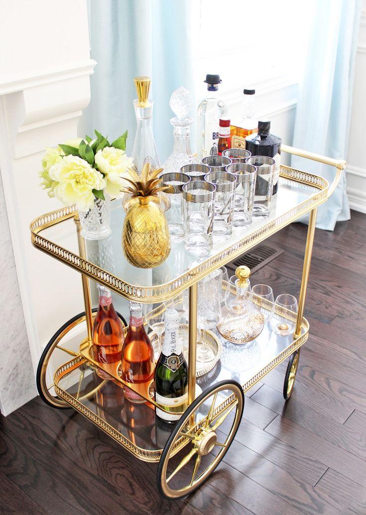 best 25 vintage bar carts ideas on pinterest bar carts. Black Bedroom Furniture Sets. Home Design Ideas
