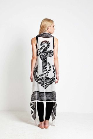 BEACH SARONG-DRESS ANCHOR - Ozon Boutique