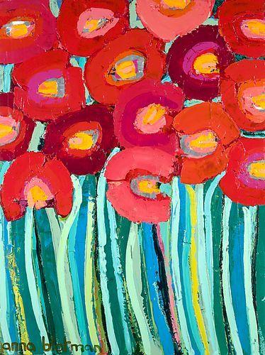 Red Poppies - Anna Blatman