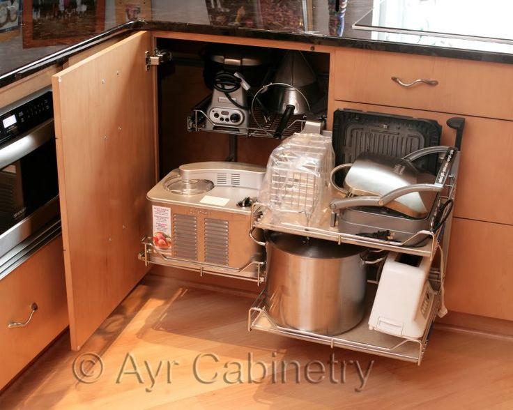 Corner Kitchen Cabinet Solutions Kitchen Update Pinterest