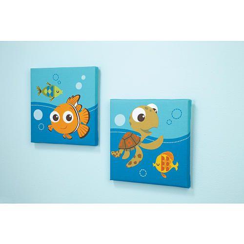 "Disney Baby - Finding Nemo 2 Piece Wall Art - Disney Baby - Babies ""R"" Us"