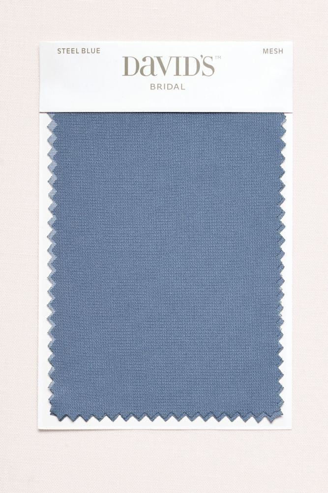 Wedding Dress Steel Blue Fabric Swatch - Mesh (White)                                                                                                                                                      More