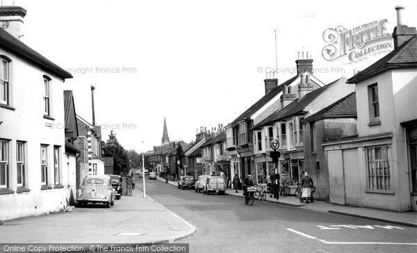 Burgess Hill, Church Road c.1960, from Francis Frith