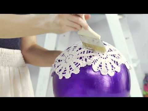 DIY Doily Lantern with SoCraftastic! #17NailedIt - YouTube