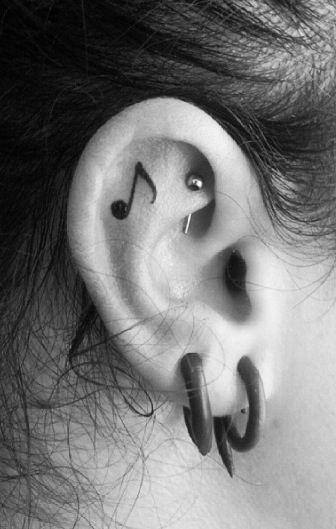 Inner ear tattoo                                                                                                                                                                                 More