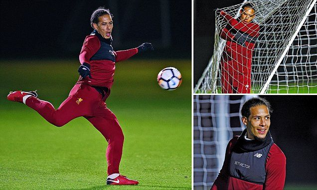 Van Dijk trains with Liverpool team-mates for first time
