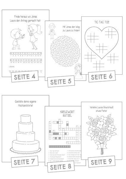 hochzeitsmalbuch pdf lovely gastgeschenk kinder wedding vintage hochzeit and activities. Black Bedroom Furniture Sets. Home Design Ideas