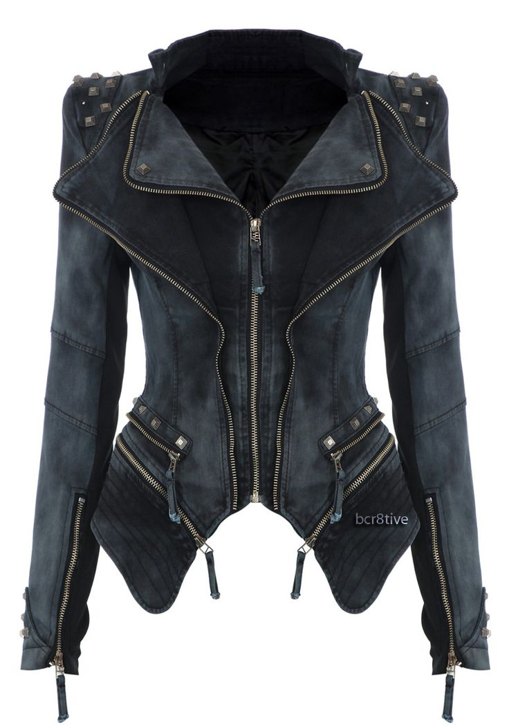 Studded Shoulder Denim Blazer. Not sure why because I've never had anything like it but I love this!