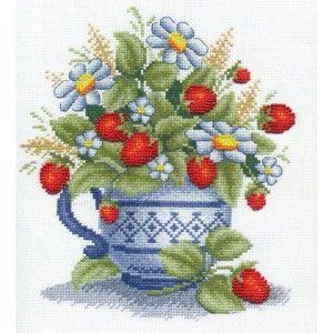 """Panna """"Земляника"""" Ц-1083 наборы для вышивания  интернет-магазин Salfetka-shop.ru"""