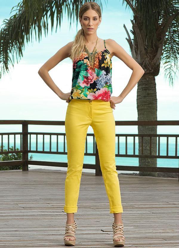 Blusa com Estampa Floral