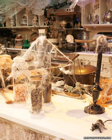 for our halloween show we transformed our normal kitchen using special tools and ingredients such as frogs and bones - Halloween Kitchen Decor