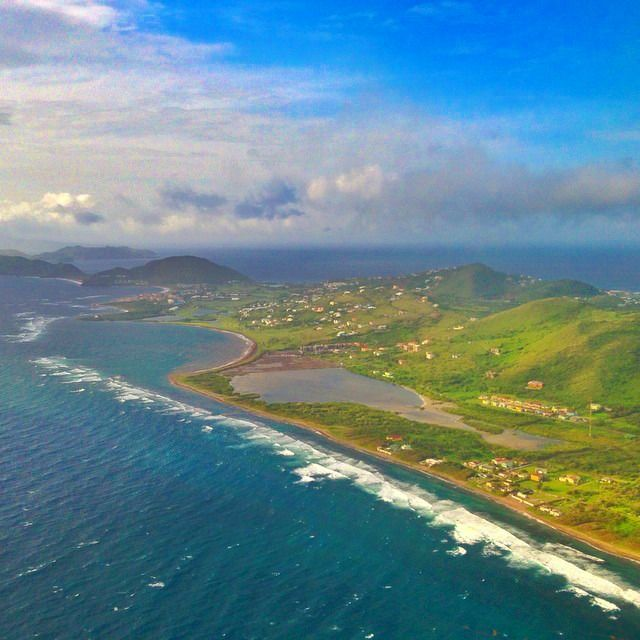 St Kitts is also beautiful from the sky.