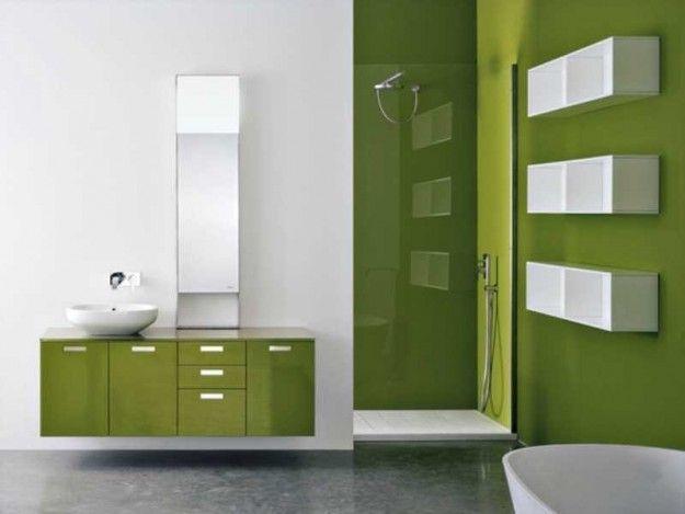 Die besten 25+ Green bathroom mirrors Ideen auf Pinterest Retro