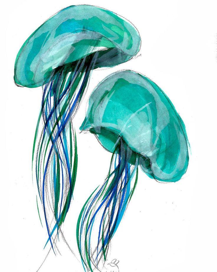 ⭐️Obtén la ilustración original en: eduardolaita.bigcartel.com  Get the original illustration here: eduardolaita.bigcartel.com Paypal payment.  #medusa #jellyfish #ilustración #illustrazione #drawing #dibujo #disegno #design #dessin #art #arte #artlover #artmadrid #sea #blue #fly #nature #naturaleza #wwf #greenpeace #love #instagramers #free #cool #nice #illustrationoftheday #loveanimals #lovejellyfish #lovenature #makamoart