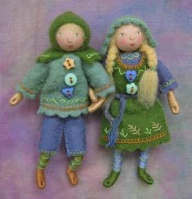 Hansel & Gretel (Salley Mavor, homemade dolls)