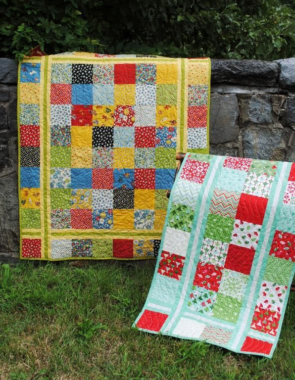 Simple Stitches, Charm Squares or Layer Cake friendly, easy and quick quilt pattern! - via @Craftsy