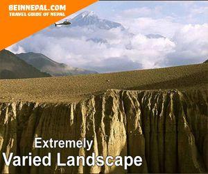 extremely varied landscape