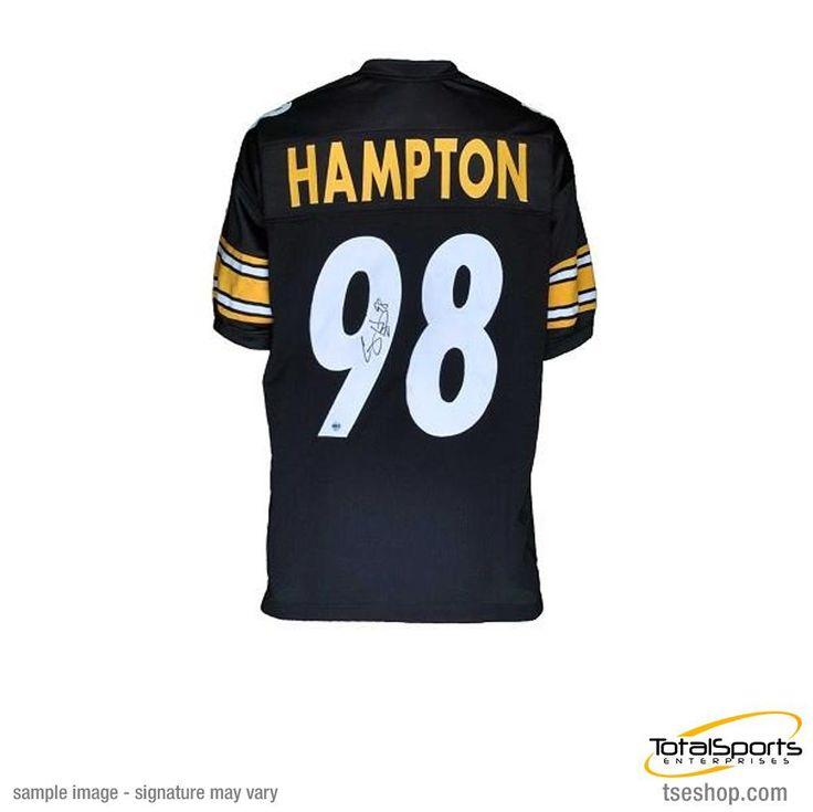 Casey Hampton Autographed Black Custom Jersey