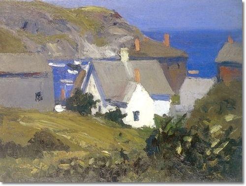 Monhegan Houses Maine 1919. by Edward Hopper: Artists, Oils Paintings, 1916 1919, Monhegan House, Hopper 1882 1967, Portland Maine, Monhegan Islands, Portland Museums, Edward Hopper