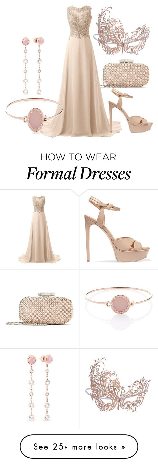 """Ball Masquerade"" by solemnium on Polyvore featuring Oscar de la Renta, Halston Heritage and Michael Kors"