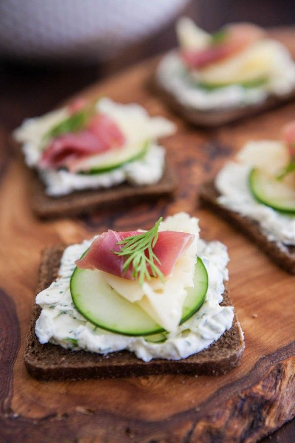 Prosciutto, Swiss and Cucumber Appetizer from
