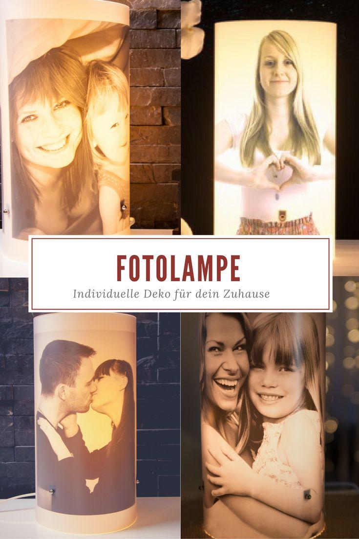 Individuelle Fotolampe mit eigenen Bildern selbst gestalten. Gemütlichkeit im Winter.