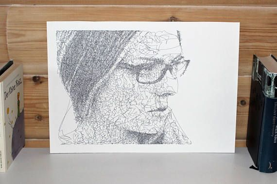 Commission Doodle Drawing  Custom Portrait Drawing