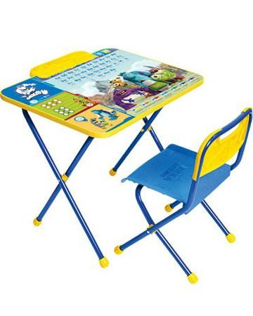 Ника Детям Disney 2 Университет монстров голубой  — 1266р. ----- Набор мебели Disney 2 Университет монстров голубой Ника детям для малышей от 1,5 до 3 лет. Стул и стол складываются. Сиденье и спинка стула - пластик.