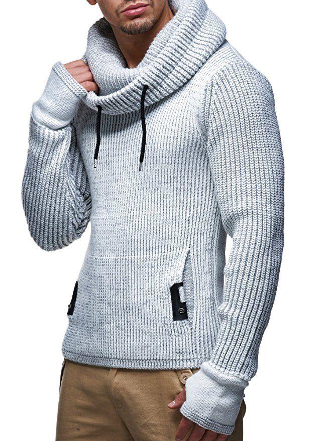 LEIF NELSON Mens Turtleneck Sweater Slim Fit Mens Polo Neck Longsleeve Turtleneck Sweater Long Sleeve for Men