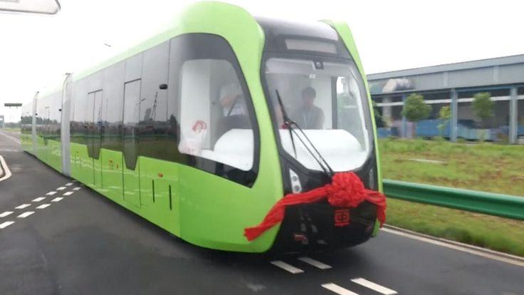 Este transporte modular desarrollado por  China Railway Stock Company busca ser una alternativa de menor costo para ciudades del gigante asiático que no pueden desplegar un sistema subterráneo