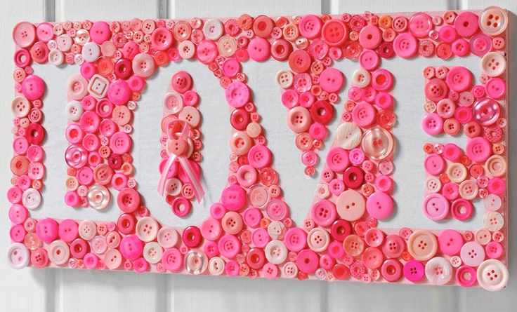 WORD wall art using buttons in relief