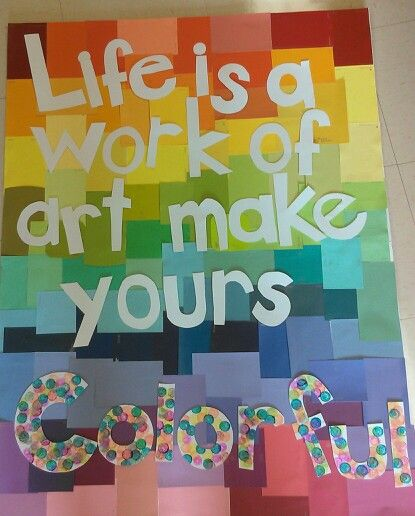 Perhaps this would day Life is a work of art make yours SPARKLE!