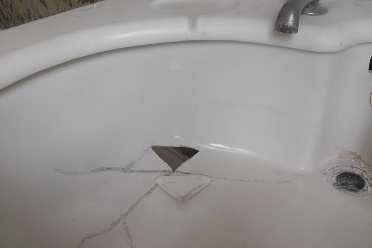 Even this basin doesn't need to be replaced - resurface it.  We can repair and resurface.