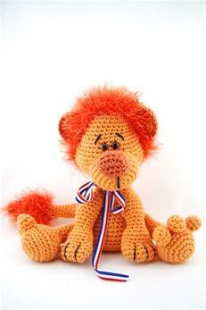 Haakpatroon leeuw oranje | Echtstudio