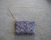 Lace outlined diamonds bag