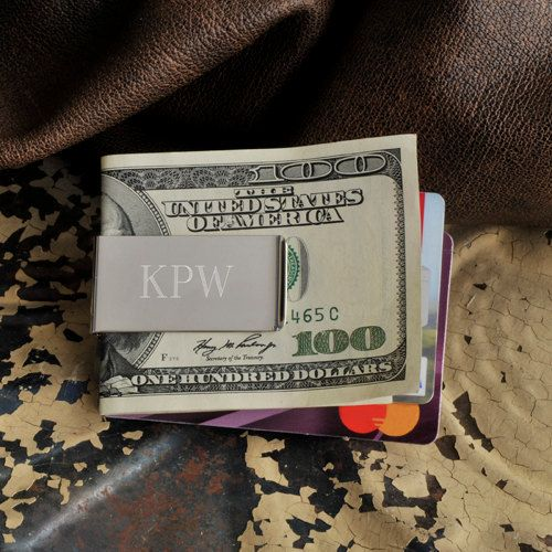 No-Slip Money Clip - Personalized - Engraved- Monogram Gifts for Men - (844) on Etsy, $24.99