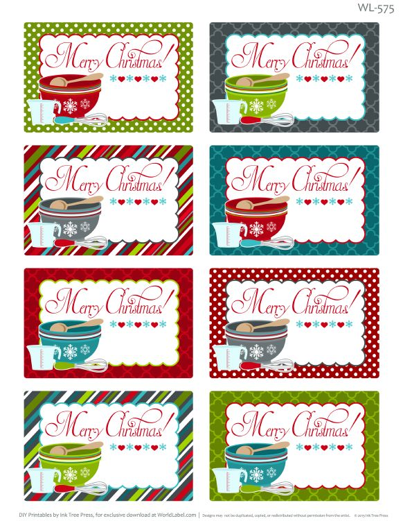Best 25 christmas labels ideas on pinterest christmas present enjoy these really fun free printable labels for homemade baked christmas foods these christmas labels solutioingenieria Choice Image
