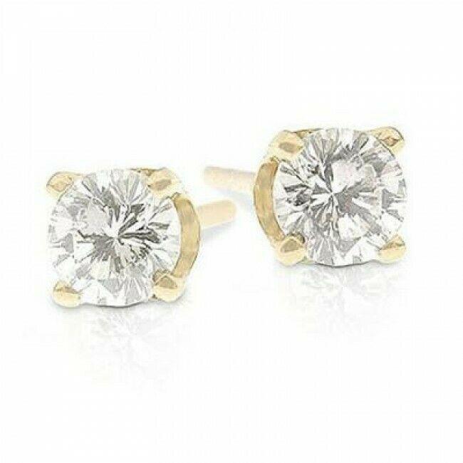1 4 Carat Diamond Stud Earrings I1 J 10k Yellow Gold 250 Diamond Earrings Studs Round Stud Earrings Diamond Earrings Studs