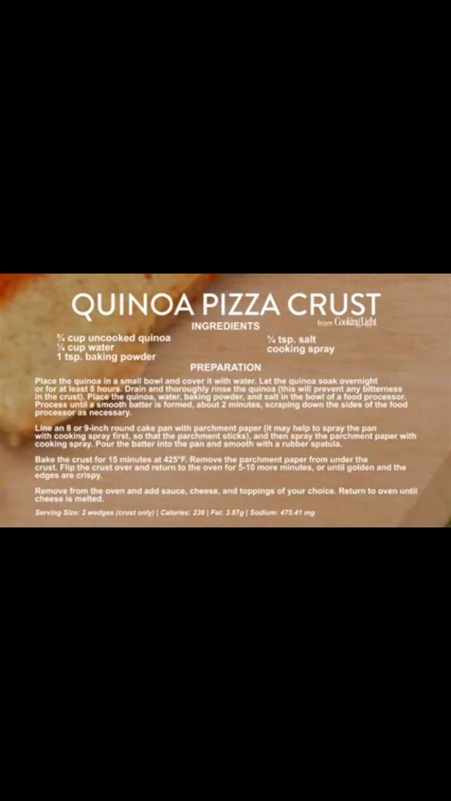 How to Make Quinoa Pizza Crust