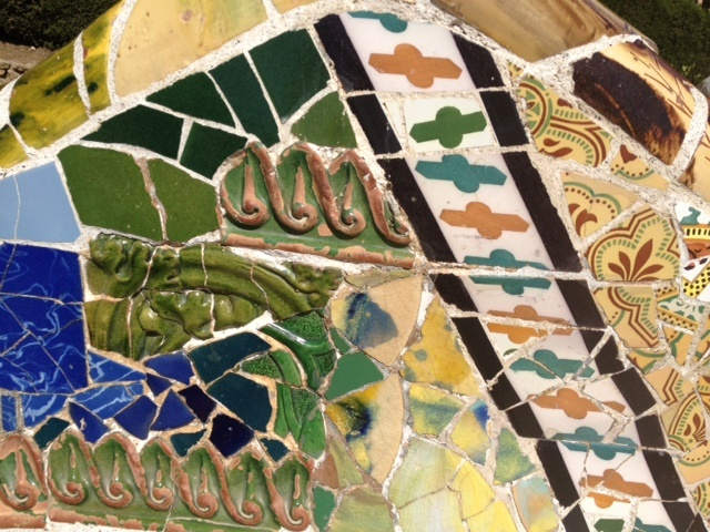 love the colors in these tiles