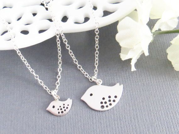 Mother and Daughter Necklaces Family Bird by LeCharmeJewelry, $42.00