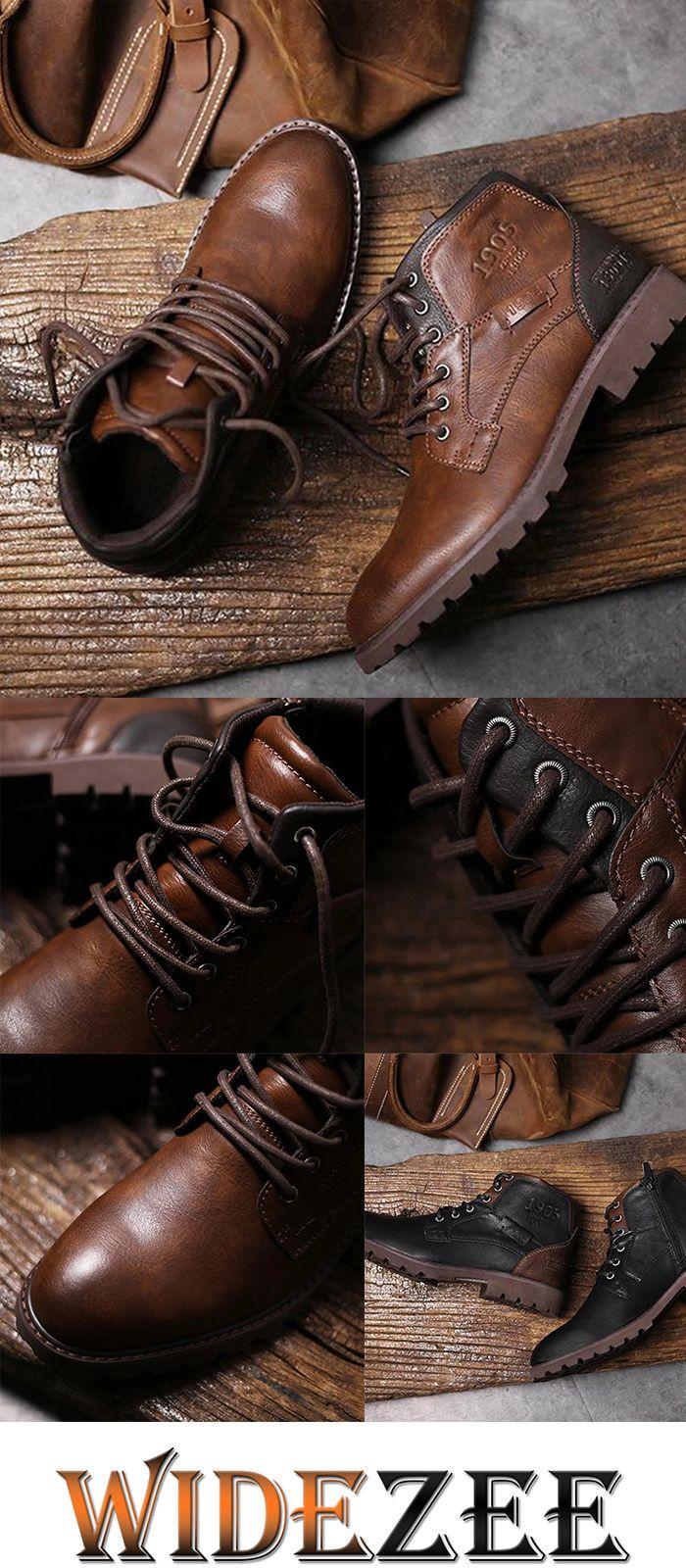 Mens Vintage Casual Round Toe Flat Martin Boots – Andreas Labinski