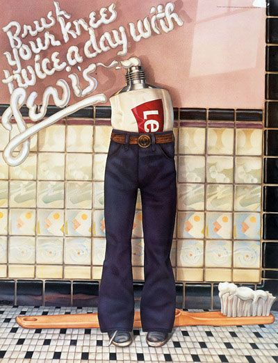 Levi's poster art project humor from the #70s