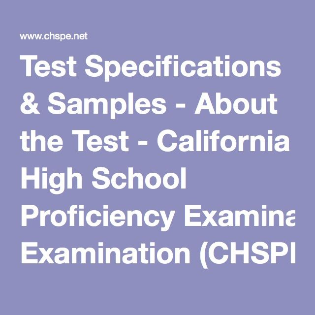 58 best chspe test images on pinterest confidence california and test specifications samples about the test california high school proficiency examination chspe fandeluxe Image collections